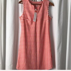 Jude Connally Allison gingham dress Orange XS NWT